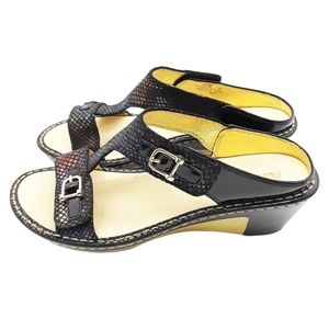 Alegria LAR-582 Iridescent Pattern Black Sandals